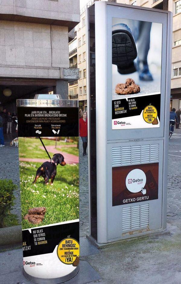 गेटक्सो एक अभियान फैलता है ताकि कुत्तों के मालिक सार्वजनिक सड़क से अपने मल इकट्ठा कर सकें
