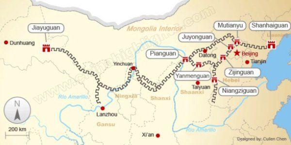 महान दीवार स्थान चीन