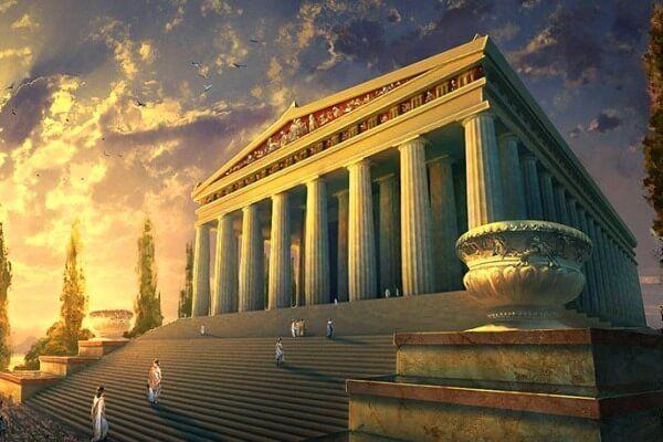 आर्टेमिस के मंदिर की उत्पत्ति