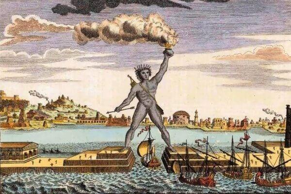 रोड्स का कोलोसस प्राचीन दुनिया आश्चर्यजनक है