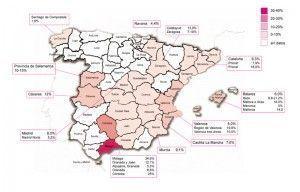 मानचित्र leishmaniasis